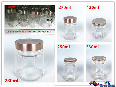 Bulk Lot Glass Jar with Silver Lid Preserve Storage Food Jars Pickle Storage