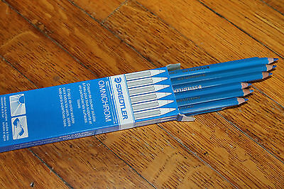 Staedtler Omnichrom Non Permanent Blue Coloring Pencils Box of 12 108 - 3 New