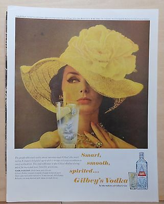 1963 magazine ad for Gilbey's Vodka - Vodka Collins, Smart Smooth Spirited