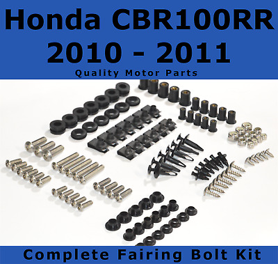 Complete Fairing Bolt Kit body screws for Honda CBR 1000 RR 2010 2011 Stainless