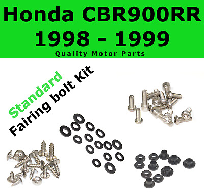 Fairing Bolt Kit body screws fasteners for Honda CBR 900 RR 1998 1999 Stainless