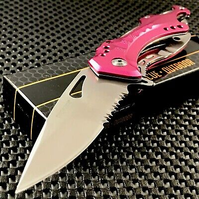 Tac Force Assisted Opening Folding Pink Tactical Survival Pocket Knife Tf-705Pk