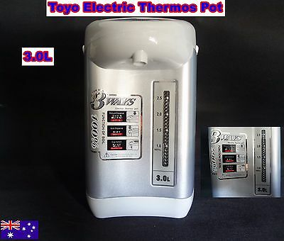 TOYO Electric Thermos Pot, Air Pot 3.0L Display Unit Silver (R11) Good Condition
