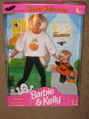 1996 HAPPY HALLOWEEN BARBIE AND KELLY GIFT SET Dolls New in Box