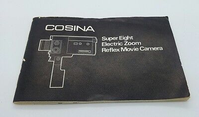 Cosina Super Eight 8mm Electro Zoom  Reflex Movie Camera Instruction Manual 36p