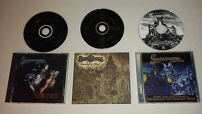 3 CD lot - Graveworm - Scourge + When Daylight's Gone + Engraved in Black Metal