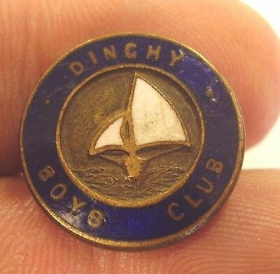 Vintage Dinghy Boys Club Member Badge Luke Melbourne Yacht Sailing