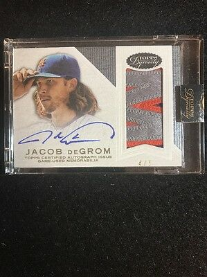 2016 Topps Dynasty JACOB DeGROM AUTOGRAPH GM USED PATCH #d 4/5 METS JERSEY NICE!