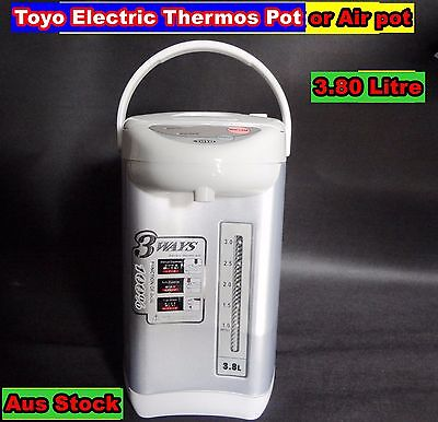 TOYO Electric Thermos Pot, Air Pot 3.8L Silver (R13) - Dented