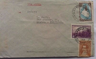 Argentina 1940 Airmail Cover To Portugal With Air France 10Th Anniversary Cachet