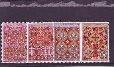 a117 - MOROCCO - SG250-253 MNH 1968 DESIGNS OF ORNAMENTAL PATTERNS