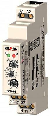 TIME RELAY PCM-06/U, ON or OFF - delay functions, 0.1s ÷ 60min 12 ÷ 240 V AC/DC