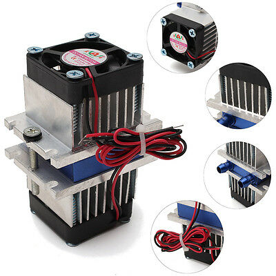 DIY Kits Thermoelectric Peltier Refrigeration Cooling System + Fan Refrigeración