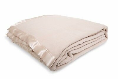 Luxurious CASHMERE TOUCH Australian Wool BLANKET King end of Winter CLEARANCE.