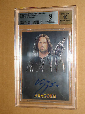 BGS 9 2004 LORD OF THE RINGS CHROME VIGGO MORTENSEN ARAGORN AUTO autograph MOVIE