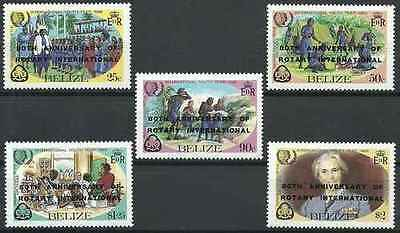 Timbres Rotary International Belize 735/9 ** lot 20990
