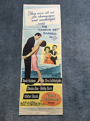 Come September rare US Vintage Movie Poster, R.Hudson,Lollobridgida,Bobby Darin