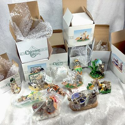 11 Charming Tails Mice Silvestri Easter Fall Christmas Ornament Figurines Boxes