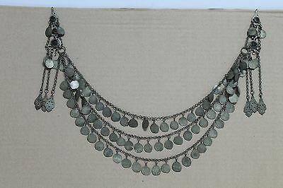 Antique Vintage Old  Woman  Balkan Ottoman Silver Necklace