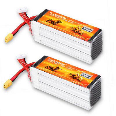 2X  6S 22.2V 4500mAh 45C with XT60 Plug LiPo Battery Pack for RC Evader BX Car