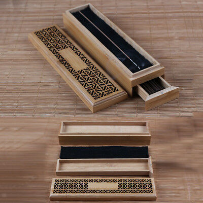 Ancien Bamboo Incense Stick Holder Burning Joss Insence Box Insense Burner