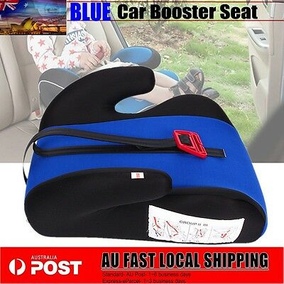 Car Booster Seat Safe Sturdy Baby Child Kid Children Fit 3 To 12 Years & CE BLUE