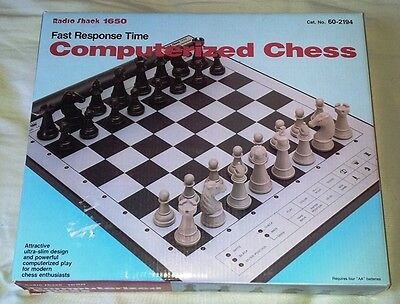 Radio Shack 1650 Computerized Chess Electronic Game Complete Boxed
