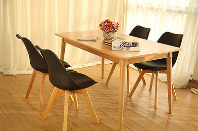 Office chairs Eames Eiffel Style Side Dining  Chairs Wood Legs Tulip
