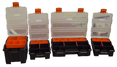 4 Pack Storage Boxes, For Fasteners, Screws, Bolts Etc. Workshop Tool Bits