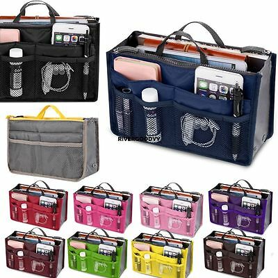 Insert Handbag Organiser Purse Liner Organizer Women Storage Bag Tidy Travel##