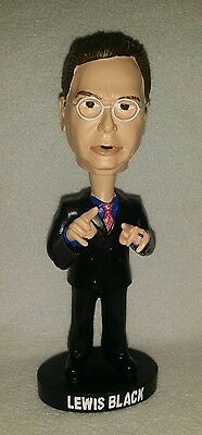 Rare LEWIS BLACK Stand Up Comic Bobblehead in Box ~ Head & Arms Shake!!