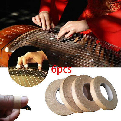 2017 6Rolls Adhesive Tape 1cm Width Finger For Nails Chinese Zither Harp