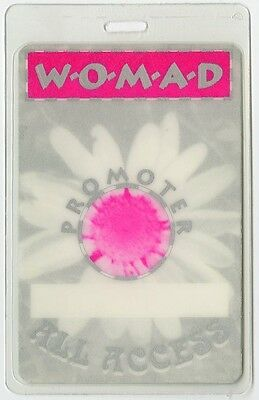 Womad Arts Festival Laminated Backstage Pass Peter Gabriel ALL ACCESS
