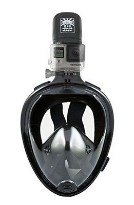 H2O Ninja 180° View Full Face Snorkel Mask Free Breathing Design w/Anti-Fog L/XL