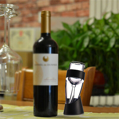 360° Dual-layer Decanter Pourer Spout Red Wine Aerator Filter Accessory Bar Tool