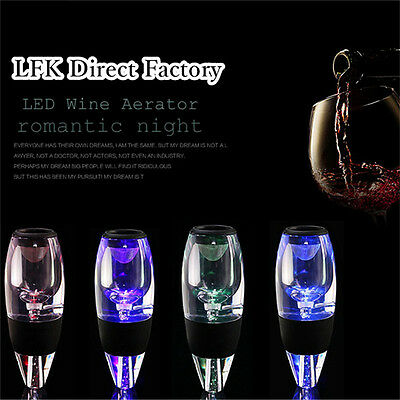 LED Sensor Red Wine Aerator Pour Spout Bottle Stopper Decanter Pourer Aerating