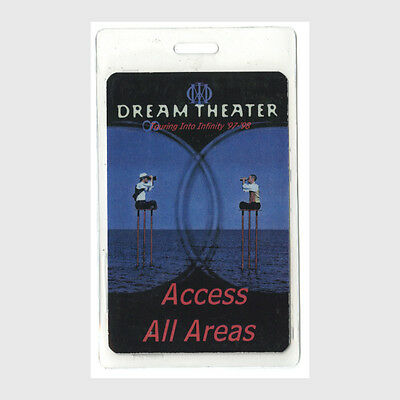Dream Theater authentic 1997 concert Laminated Backstage Pass Touring Infinity