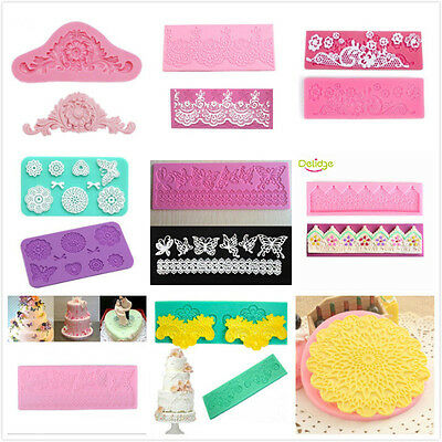 Flower Lace Silicone Fondant Icing Mould Wedding Cake Decoration Sugarcraft Mold
