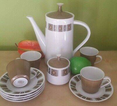 Vintage retro Noritake RC Ringwood 791 pattern partial coffee set