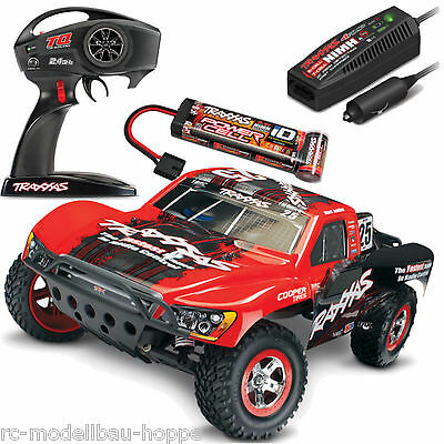 Traxxas Slash RTR 1-10 2,4 GHz Onboard Audio Short Course Camión Rojo TRX58034-1