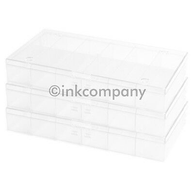 3x 12's Sorting box Collector's box for metal transparent new