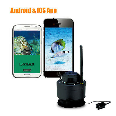 LUCKY 80M Wireless Fishing Cameras for Android IOS Fish Finders NEW Record Video