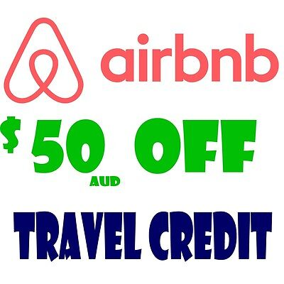 $50 AUD OFF - AIRBNB DISCOUNT booking INSTANT CREDIT NEW ACCOUNTS CODE - READ!!
