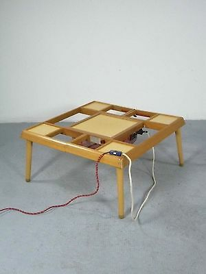 Japanese Kotatsu (table with heating), manufactured by National, Japan 1960ies