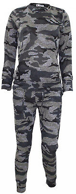 Kids Camouflage Girls TrackSuit Knitted Jogging Bottom Sweatshirt Jumper Top
