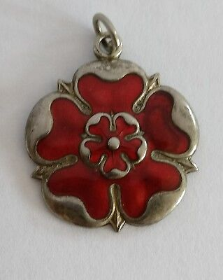 Antique Art Nouveau enamelled flower pendant