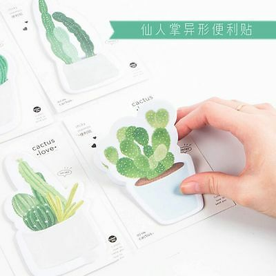 Planner Self-Adhesive Memo Pad Sticky Note Cactus Green Plant