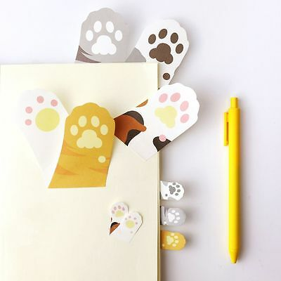 Meow Page Marker Cartoon Memo Pad Sticky Note Kitty Cat Paw