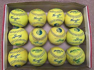 12 used but great condition 12 inch Dudley Thunder SY USSSA softballs softball