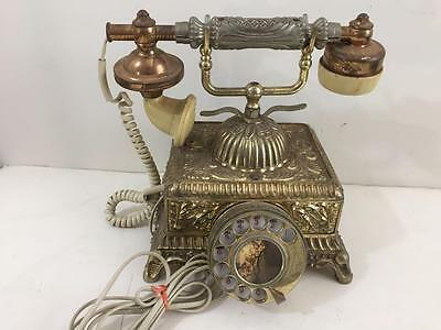 vintage reproduction phone Victorian French rotary dial corded princess works